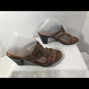 Sofft Wmn's Sz8M Brown Heel Sandals#A125